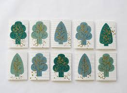 forest pop up tree cards bloesem