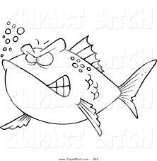clip vector cartoon art of a angry mad fish by toonaday 694