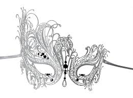 black and white mardi gras masks white series swan metal filigree laser cut venetian masquerade mask