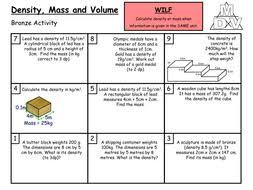 density mass and volume grade c b by arthompson1987 teaching