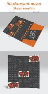dl bifold restaurant menu food design e restaurante