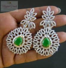 dangler earring buy designer cubic zircone dangler earrings online