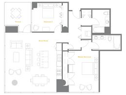 Chicago Condo Floor Plans The Two Bedroom Two Bath Tango Five New Downtown Condos U2013 Yochicago