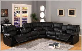 leather sectional recliner sofa with cup holders sofa home