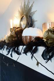 elegant halloween mantel decor