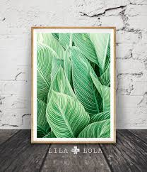 Wall Art by Leaf Wall Art Print Tropical Plant Photo Printable Large
