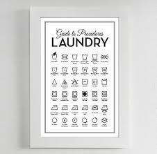 Etsy Laundry Room Decor by Laundry Symbols Poster Mid Century Mid Century Modern