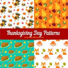 thanksgiving patterns set vector free