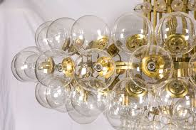 Glass Blown Chandeliers by Pair Of Kamenicky Senov Blown Glass Chandeliers Lighting Stock