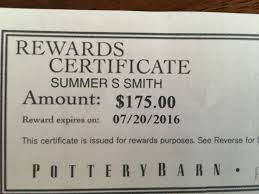 Pottery Barn Austin Hours Are Pottery Barn Rewards Certificates Worthless Mommy Points