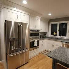 boston shaker kitchen cabinets traditional with medium wood