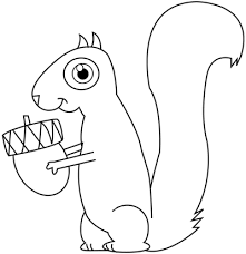 for you a nice cartoon squirrel ready to be sketched animals