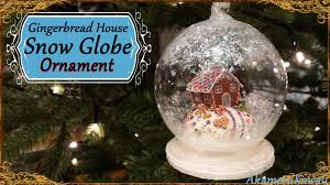 gingerbread house snow globe ornament polymer clay tutorial