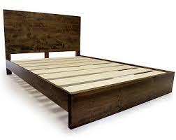 Bed Frame Wood Wood Bed Frame Etsy