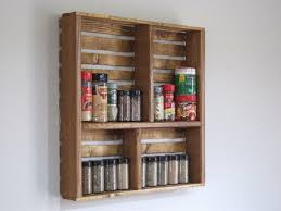 pleasing wall mounted spice racks for kitchen cute kitchen