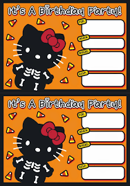 i love kawaii free printable halloween hello kitty invitation set