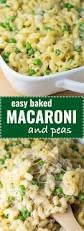 easy macaroni and peas recipe w mozzarella and cheddar