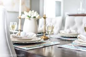 how to set a table with napkin rings easter table decor diy napkin rings