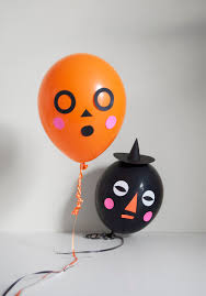 diy halloween balloon faces julep