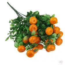 aliexpress buy 2x artificial orange tree 7 branch lucky