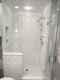 Subway Tile Shower Walls Octagon by Tiling By Santana Com Third Ward Walk In Shower With Half Wall