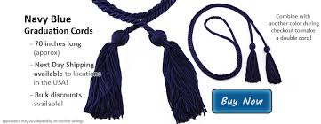 graduation cord navy blue cords for graduation honor graduates cord