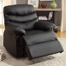 Recliner Chair Furniture Of America Pleasant Valley Dark Brown Bonded Leather