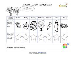 eating healthy lunches color the characters for kids printable