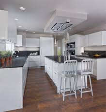 im kitchen with snow white high gloss finish christiana cabinetry