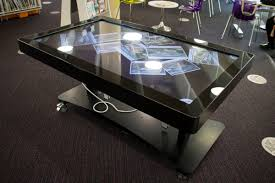digital table multi touch screen history display