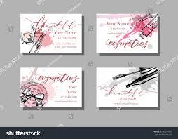 makeup artist business card vector template stock vector 462934993