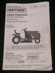 owner u0027s manual craftsman 18 0 hp 42