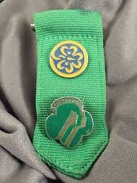 girl scout ribbon girl scout pin world trefoil pin on scout ribbon 674 ebay