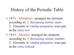 Who Is Credited With Arranging The Periodic Table How Is The Periodic Table Organized According To Mendeleev And