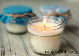 soy beeswax jar candles garden therapy