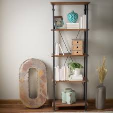 Distressed Wood Bookcase Distressed U0026 Industrial Style Bookcases Hayneedle