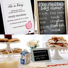 themed baby shower school themed baby shower popsugar