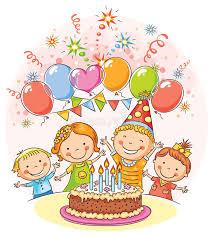 imagenes cumpleaños niños niños felices en la fiesta de cumpleaños ilustración del vector