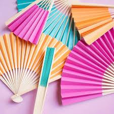church fans in bulk colored paper hand fan