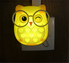 cute bedroom lights cute cartoon owl led mini night light auto control sensor lights