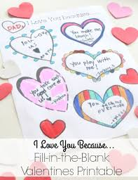 i love you because valentine u0027s day printable time snippets