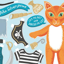 pirate cat birthday card cut out and dress up u2013 lucy loves this