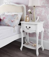 juliette shabby chic antique white bedside table french bedside