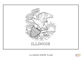 Idaho State Flag Printable Illinois State Flag Coloring Page Funycoloring
