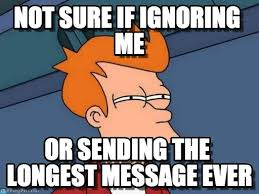 Why You No Reply Meme - when you see the seen at p m in a facebook message but