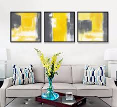 compare prices on yellow and gray abstract art online shopping