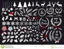 white christmas vector set stock vector image 47213065