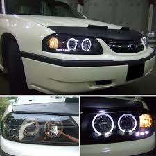 04 impala led tail lights for 00 05 chevy impala halo led projector headlights blk head lights