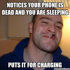 Dead Phone Meme - your phone is dead and you are sleeping