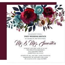 wedding brunch invitations ideas post wedding brunch invitations and burgundy floral post
